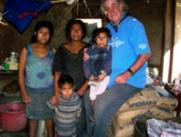 Francis with Yesenia and some of her family